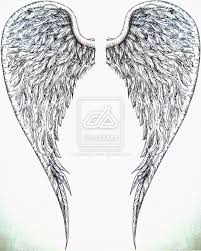 big angel wings tattoo design photos pictures and sketches