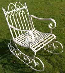 Garden Rocking Chair Uk Newboxedvictorian Style Metal Garden Rocking Chair In A Shabby