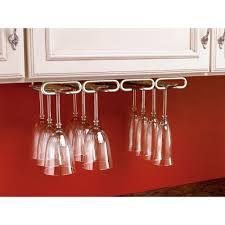 Wine Glass Storage Cabinet by Rev A Shelf 1 5 In H X 17 In W X 11 In D Satin Nickel Under
