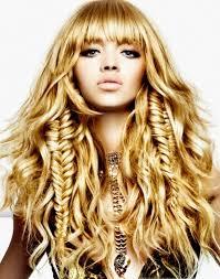 women u0027s curly hairstyles 2012 fishtail braids fishtail and