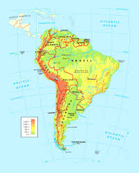 america physical map south america map countries and capitals for at interactive of