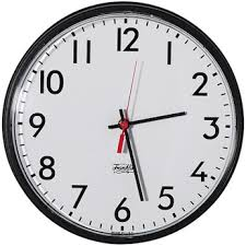 wall watch cole parmer outdoor analog wall clock black frame white face