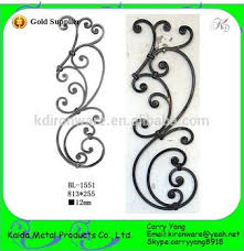 wholesale price ornamental wrought forged iron railing ornaments