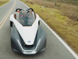 nissan sports car nissan bladeglider concept car is aerodynamic and has zero