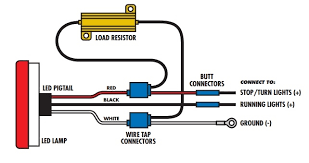 load resistors for led lights 1 pair of led ultra bright white lights universal