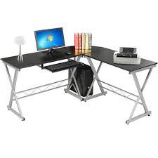 l shape corner computer desk pc laptop table workstation home