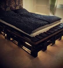 bed frame with lights diy pallet bed frame with lights glamorous bedroom design
