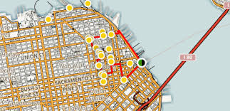 san francisco map downtown loop of downtown san francisco and chinatown