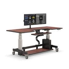 Height Of A Computer Desk Adjustable Height Rolling Computer Desk Afcindustries