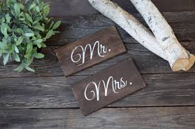 mr mrs sign for wedding table mr and mrs wooden wedding chair signs wedding signs custom wedding