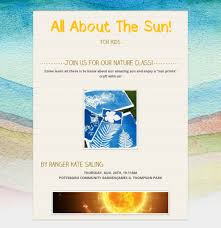 all about the sun nature class for kids