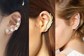 ear cuffs on both ears ear cuff earrings the most eye catching styles mag