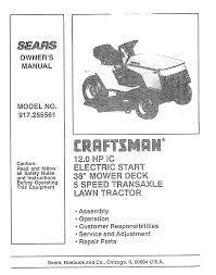 craftsman lawn mower 917 255561 user guide manualsonline com