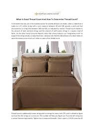 What Thread Count Is Good | what is good thread count and how to determine thread count