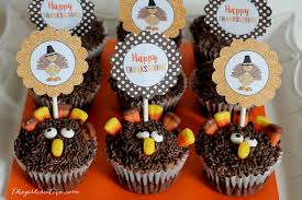 turkey cupcakes with printable toppers the creative