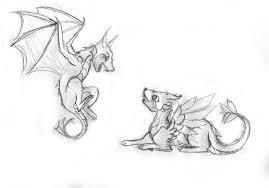 drawn dragon adorable dragon pencil and in color drawn dragon