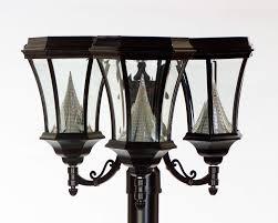 Solar Light Fixtures by Powered Solar Lamp Post Lights Solar Lamp Post Lights Ideas