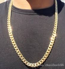 mens gold curb necklace images 2018 men 39 s 14k gold plated grooved cuban link curb chain necklace jpg