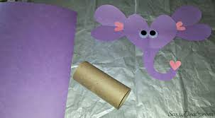 valentines day elephant craft for kids toilet paper roll or card