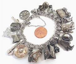 handmade silver charm bracelet images Old west style 39 cowboy charm bracelet 39 on a sterling silver elco jpg