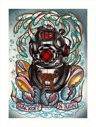 diver u0027s helmet deep sea diving old tattoo art