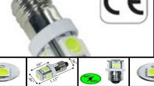 e10 6 volt ac or dc 5 smd led 360 degree youtube