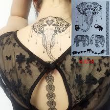 fashion flash metallic waterproof henna tattoo women hanna black