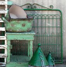 vintage green garden gate paint mine like this and use as an