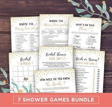 Wedding Shower Games Bridal Shower Games Printable Instant Download Wedding Shower
