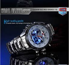 tvg km 468 seal elite military led sports watch dual movement
