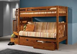 Bunk Bed With Futon On Bottom Futon Mission Honey Stairway Bunk