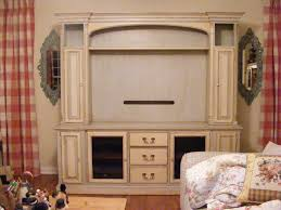 Entertainment Center Ideas Diy Hand Painted Distressed And Glazed Shabby Chic Entertainment
