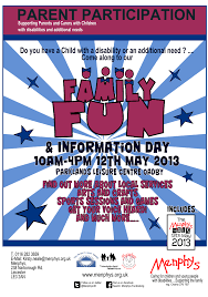 a poster for the parent participation family day designed by