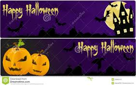 Dark Purple Colors Halloween Banners In Dark Purple Colors Royalty Free Stock Photos