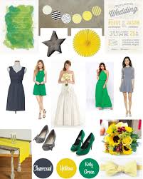 get inspired charcoal grey kelly green and a pop of yellow the