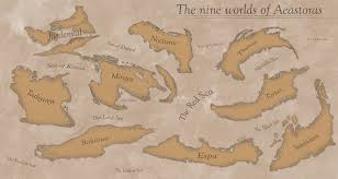 Seas Of The World Map by The Nine Worlds World Map Of The Nine Worlds Of Aeastoras