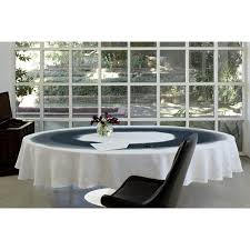 Fitted Oval Tablecloth Black White Watercolor Round Pure Linen Tablecloth Unique