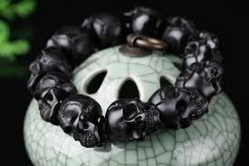 black skull bracelet images Skulls bracelet handcrafted tibetan yak horn black ghost holy buyble png