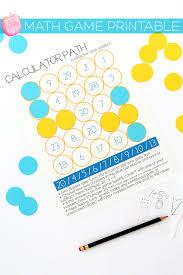 print back to series and a free math game printable