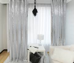 Silver Sparkle Shower Curtain Impressive Silver Sheer Curtains And Handmade Silver Sequins Drops
