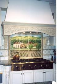 kitchen backsplash hand painted tiles ceramic tile mural