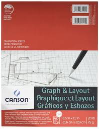 grid layout for 8 5 x 11 amazon com canson foundation series graph and layout paper pad with