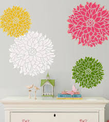 flower wall decals design stickers how to paint flower wall image of flower wall decals design girls