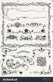 Design Styles Collection Ornamental Borders Elements Ancient Design Stock Vector