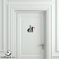 funny toilet peek door sign sticker funny toilet signs door