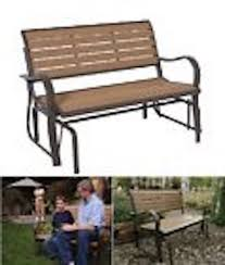 Lifetime Patio Furniture by Lifetime 60055 Glider Bench Wooden On Sale With Fast U0026 Free Shipping