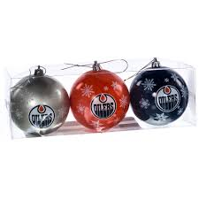 nhl edmonton oilers ornaments set of 3 retrofestive ca