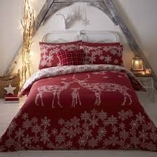 Christmas Duvet Cover Sets Reindeer Red Christmas Quilt Cover Sets Festive Duvet Sets