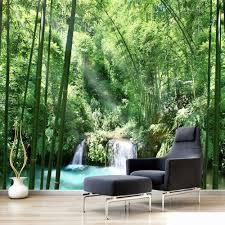 online get cheap custom wall mural nature forest aliexpress com custom 3d wall murals wallpaper bamboo forest natural landscape art design mural painting living room home