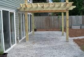 Backyard Cement Patio Ideas Patio Ideas Backyard Stamped Concrete Patio Ideas Backyard
